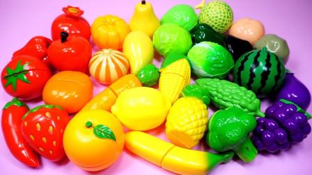 孩子们的早教启蒙乐园:学习英语知识,认识各种水果蔬菜的名字!