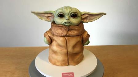 【猴姆独家】这么可爱的尤达宝宝蛋糕该不该吃呢?#曼达洛人#