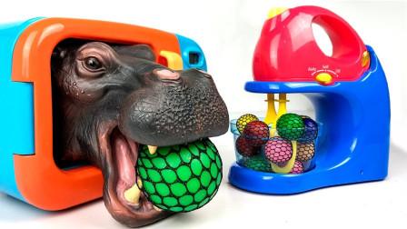 益智早教认知:趣味烘焙玩具认识颜色还有4种动物