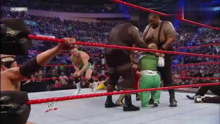 WWE几百斤马克兄弟压垮众人送葬者也只能暂避锋芒太牛了
