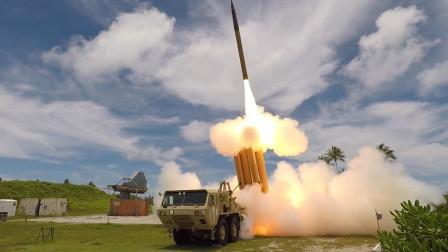 萨德弹道导弹防御系统测试,场面太壮观