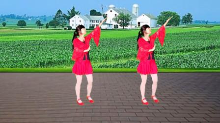 广场舞《妈妈的吻》歌甜舞美,好听又好看