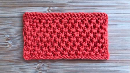 一款精致立体的斜纹花样,简洁漂亮,针法不难,织外套很大方钩针作品