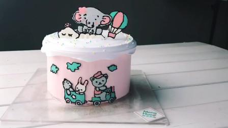 卡通转印蛋糕怎么做 烘焙培训 蛋糕培训 西点培训