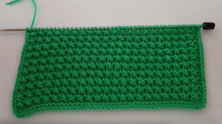 最喜欢简单清爽的棒针花样,一款小米花教程,适合用来织儿童毛衣