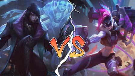 LOL:神装金克丝vs神装厄斐琉斯,哪个英雄更强?