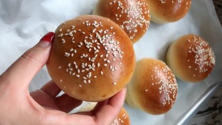 家庭版汉堡小面包的做法,学会了自己在家做汉堡包,简单易学