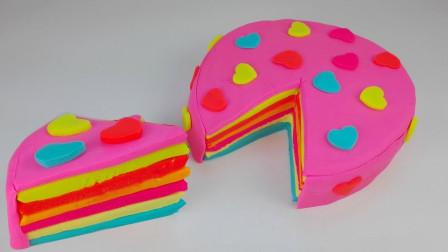 儿童手工趣味diy乐园:用彩泥制作美味的彩色千层蛋糕!