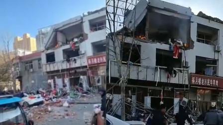 河北赞皇一商铺内发生爆炸致2人受伤 3层楼顶被炸塌