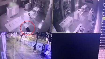 """浙江男子偷盗手机店 施展""""划船式""""身法躲红外线"""