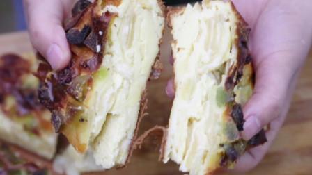 美味又健康的千层蛋糕,简单几步就能做,懒人最爱,甜甜的真好吃