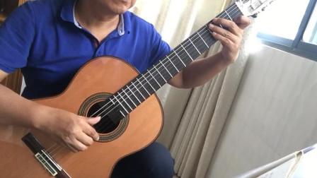 卡尔卡西教程三段旋律的练习第一首:教程23页