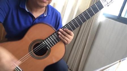 卡尔卡西教程三段旋律的练习第三首:教程23页