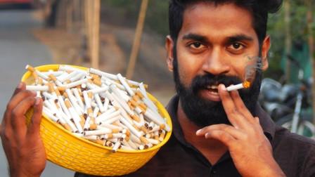 香烟的危害有多大?老外模拟测试一次性抽500支香烟 ,看完还敢吸烟吗?