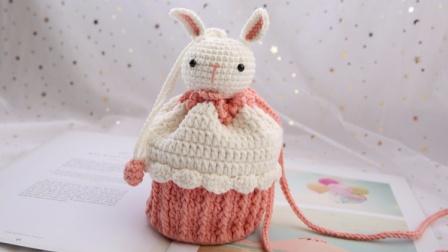 米妈手作 蛋糕包 小兔子款 钩针教程