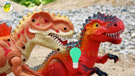 鳄鱼和恐龙玩具修建新的木头桥帮助动物过河,儿童益智,婴幼儿宝宝过家家游戏视频F869