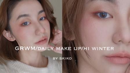 SKIKO MAKEUP/【冻伤 妆】冬日必选妆容/肿眼泡也可以完成的粉色眼妆/肿眼泡画眼窝大法/气质又软萌的冬日约会必备妆容
