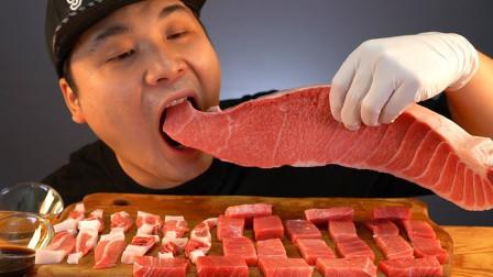 """韩国donkey吃播:""""1等级金枪鱼腹肉"""",油油腻腻的,吃得真过瘾"""