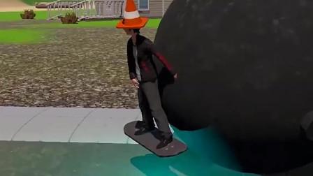 送儿子上学:儿子在学校打架!被班主任关小黑屋,竟踩太空滑板逃跑!