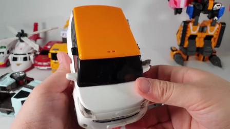 迷你特工队宝宝玩具拼装:汽车变形真的很好玩 这个机器人还能拆分