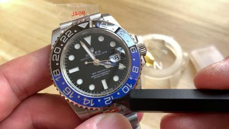 格林尼治GMT 2地时针 黑蓝圈N厂3285机芯五珠链