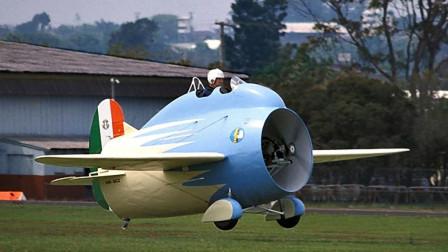 有史以来最呆萌飞机,100年前意大利造,像是酒桶在天上飞