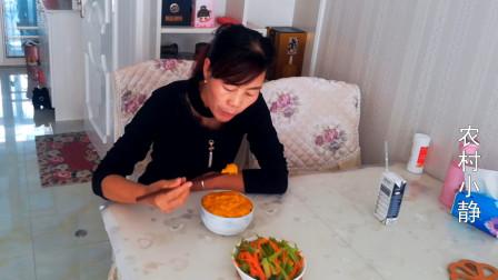 甘肃民勤小静教你做南瓜搅团,做法简单,香甜美味真好吃
