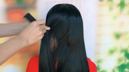 超简单的新娘发型,教你这样扎,轻松搞定半披新娘造型