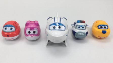 儿童变形玩具飞机,超级飞侠变形飞机,趣味玩具变形蛋