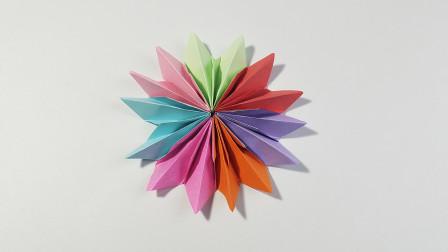 折纸王子大全 简单折纸 折纸七色花,简单又漂亮,儿童很喜欢