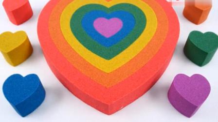 趣味玩具 创意太空沙彩泥制作心形蛋糕