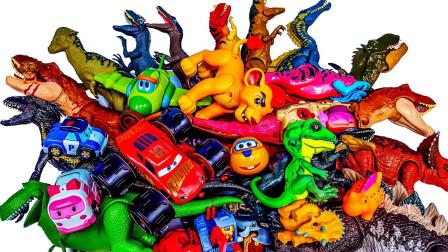 炫彩恐龙玩具认识异特龙霸王龙玩具
