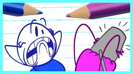 阿呆打不开遥控开关,这是怎么回事?铅笔画小人游戏