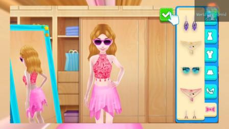 装扮游戏:小公主要去哪里呢,打扮这么漂亮!