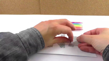 DIY手工制作:炫酷彩虹名片卡片装饰水彩绘画简易简笔展示