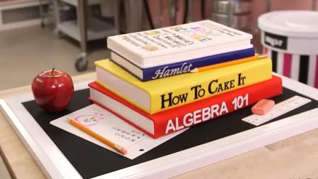 它真的不是书本,而是牛人发明的翻糖蛋糕!这创意我给100分!