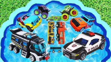 亲子早教益智玩具课:学习警车和救火车等交通工具!