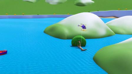 超级火车特洛伊找来直升机挪走大树轮船鲍比安全通过动画片