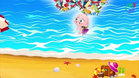 超能宝贝发神功聚集海滩垃圾惩罚破坏环境的人