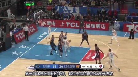 林书豪强突广东内线,易建联单臂霸气教做人:CBA不是那么好打的