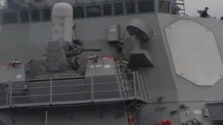 伯克级驱逐舰上MK-15密集阵火神系统装弹几个小时,一分钟全打光