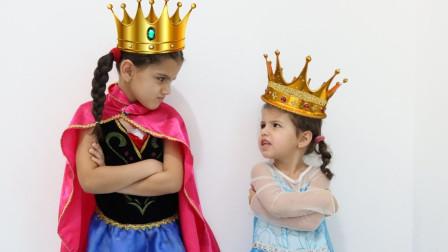 萌宝儿童益智玩具:冰雪女皇怎么和安娜公主调换了身份?怎么回事