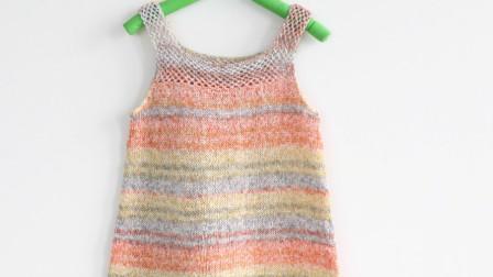 毛儿手作-树叶裙子扁带线宝宝裙子新手视频教程钩针作品