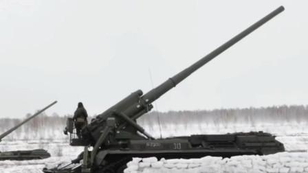 俄罗斯无人机帮助203毫米榴弹炮快速调整目标攻击