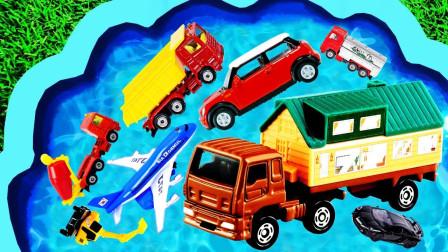 儿童早教启蒙玩具认知:救护车、吊车、叉车、挖掘机、汽车、铲车、翻斗车!