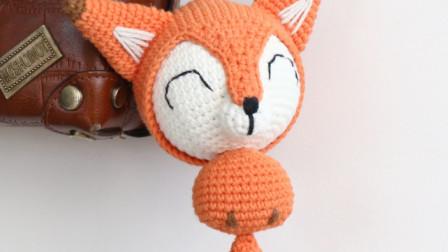 毛儿手作-小狐狸耳朵鼻子身体和尾巴的视频毛线编织教学视频