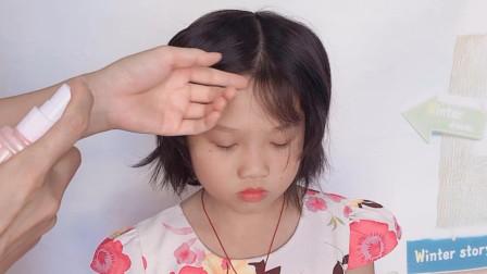 邻家小女孩参加钢琴比赛,我给她做了这款发型,家长们都夸可爱又好看