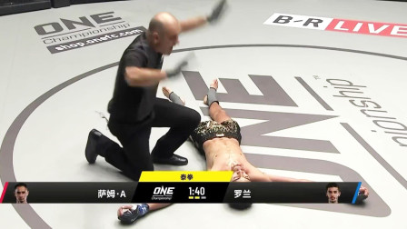 名將羅蘭跳起飛膝一拳打跪泰拳王鐵拳命中下巴站立睡著秒殺強敵