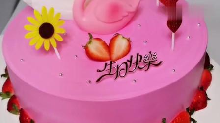 粉粉的蛋糕,少女心爆棚,都不舍得吃了!