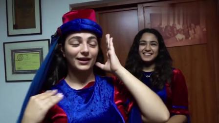 冒险雷探长:雷探长来到黎巴嫩的大学舞团,美女排队求合影:请用中文说我爱你